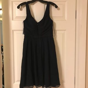 J. crew blue silk dress size 2